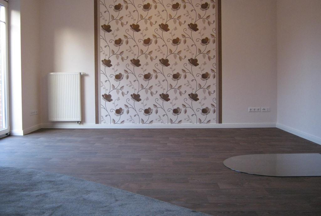 Gemusterte Wand und Bodengestaltung
